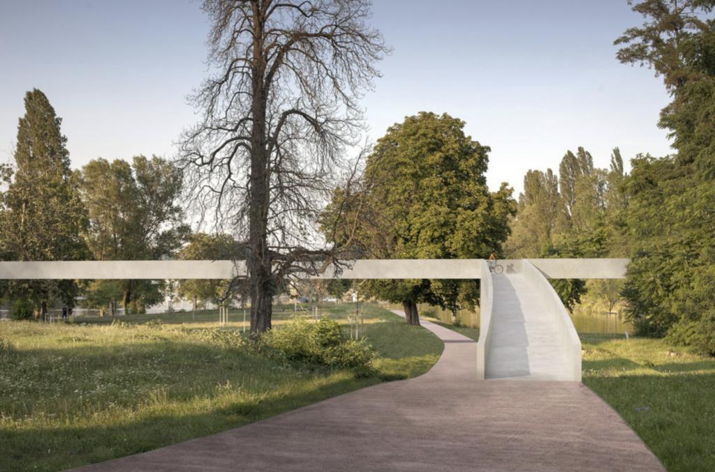footbridge holesovice karlin
