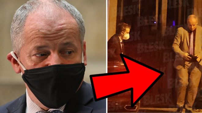 Prymula Spotted in a Restaurant Without Face Mask. Opposition Demands  Resignation