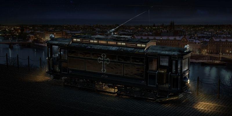 The Black Mary tram prague